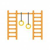 Kid Amusement Rings Icon. Flat Illustration Of Kid Amusement Rings Vector Icon For Web Design poster