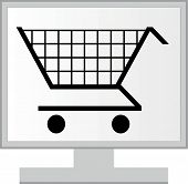 Monitor And Mouse With Online Shopping
