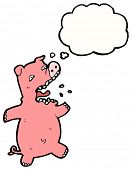 cartoon terrified pig