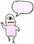 monstro de Ciclope Cartoon em rosa