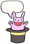 image of rabbit hole  - cartoon rabbit in top hat - JPG