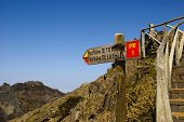 Sinal ao Pico Ruivo, Madeira