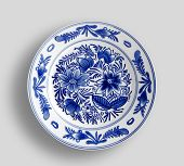 Decorative Plate With Round Ornament In Ethnic Style. poster