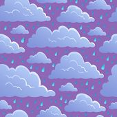 Seamless background with clouds 5 - vector illustration.