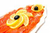 Fresh Smoked Salmon Close-up