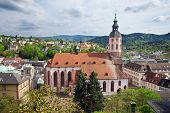 Panoramic view of Baden-Baden. Europe, Germany