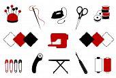 Ícones de quilting, Patchwork, costura