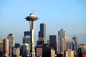 image of view from space needle  - A closeup view of downtown Seattle skyline - JPG