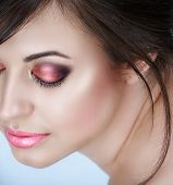Woman With Pink Smoky Eyes
