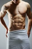 image of men underwear  - Young sexy muscular man posing - JPG