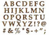 Roca alfabeto mayúscula