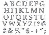 Cromo alfabeto mayúscula