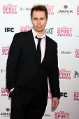 LOS ANGELES - FEB 23:  Sam Rockwell attends the 2013 Film Independent Spirit Awards at the Tent on t