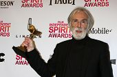 LOS ANGELES - FEB 23:  Michael Haneke in the press room of the 2013 Film Independent Spirit Awards a