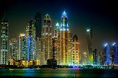 Stadtansicht in Dubai Marina, Vereinigte Arabische Emirate