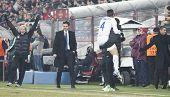 CLUJ-NAPOCA, ROMANIA - FEBRUARY 21: Zanetti celebrating after scoring a goal in UEFA Europa League match, CFR 1907 Cluj vs UInter Milan, on 21 February, 2013 in Cluj-Napoca, Romania