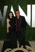 WEST HOLLYWOOD, CA - FEB 24: Bono, daugher Eve Hewson at the Vanity Fair Oscar Party at Sunset Tower on February 24, 2013 in West Hollywood, California