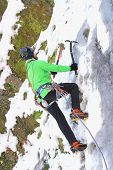 Ice Climbing In Winter