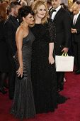 LOS ANGELES, CA - FEB 24: Nora Jones, Adele at the 85th Annual Academy Awards on February 24, 2013 i