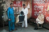 Street Barber's In India