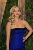 WEST HOLLYWOOD, CA - FEB 24: Reese Witherspoon at the Vanity Fair Oscar Party at Sunset Tower on Feb