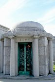 Mausoleum at the Washington Jewish cemetery in Brooklyn, New York