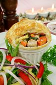 Homestyle Chicken And Vegetable Pie