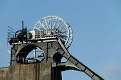 foto of collier  - The Winding Wheels of a Disused Coal Mine - JPG