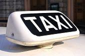 Italian Taxi Sign, Closeup