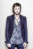 PARIS, FRANCE - JULY 04, 2012: Portrait of the english rock group Muse drummer Dominic Howard at Par