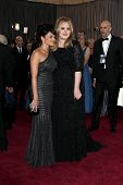 LOS ANGELES - FEB 24:  Nora Jones, Adele Adkins arrive at the 85th Academy Awards presenting the Osc