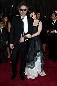 LOS ANGELES - FEB 24:  Tim Burton, Helena Bonham Carter arrive at the 85th Academy Awards presenting