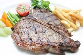 pic of t-bone steak  - photograph of big delicious t - JPG