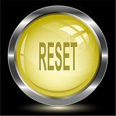 Reset. Internet button. Vector illustration.