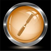 Chisel. Internet button. Vector illustration.