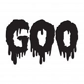 Vector drippy goo text in black
