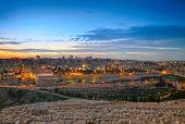 stock photo of aqsa  - View to Jerusalem old city - JPG