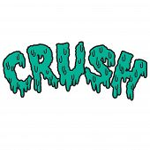 Vector drippy crush text in blue