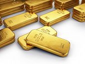 picture of bank vault  - Gold bars - JPG