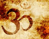 image of guru  - Om symbol with some smooth lines and highlights - JPG