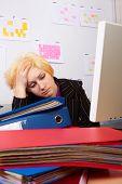 Business Woman Has A Headache
