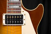 Electric Guitar With Tobacco Honey Sunburst Finish