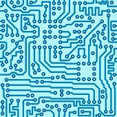 stock photo of circuit  - Electronic technology digital circuit blue board  seamless vector pattern - JPG