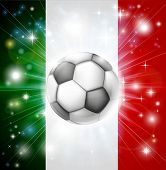 Italien Fussball Flagge