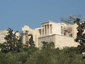 Greek Parthenon from afar