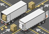 Isometric Tow Frigo Truck