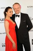 LOS ANGELES - FEB 24:  Allegra Riggio, Jared Harris arrive at the Elton John Aids Foundation 21st Ac