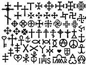 stock photo of occult  - Heraldic Crosses and Christian Monograms  - JPG