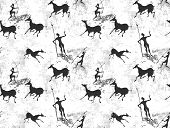 Cave painting seamless background texture