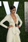 WEST HOLLYWOOD, CA - FEB 24: Irina Shayk at the Vanity Fair Oscar Party at Sunset Tower on February